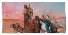 A Rest In The Desert Hand Towel by Otto Pilny