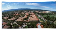 Aerial View Of Stanford University Hand Towel by Panoramic Images