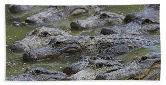 American Alligator Hand Towel by Mark Newman