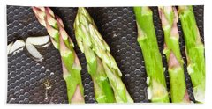 Asparagus Hand Towel by Tom Gowanlock