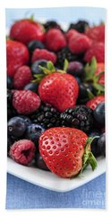 Assorted Fresh Berries Hand Towel by Elena Elisseeva