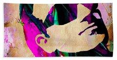 Bono U2 Hand Towel by Marvin Blaine