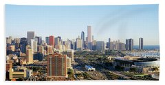Chicago, Illinois, Usa Hand Towel by Panoramic Images