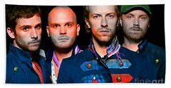 Coldplay Hand Towel by Marvin Blaine