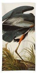Great Blue Heron Hand Towel by John James Audubon