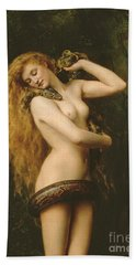 Lilith Hand Towel by John Collier