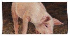 Pig Hand Towel by David Stribbling