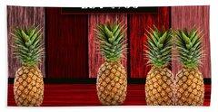 Pineapple Farm Hand Towel by Marvin Blaine