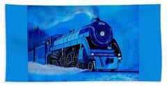 Royal Blue Express Hand Towel by Pjohn Artman