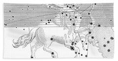 Sagittarius Constellation Zodiac Sign Hand Towel by Science Source