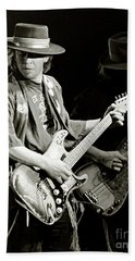 Stevie Ray Vaughan 1984 Hand Towel by Chuck Spang