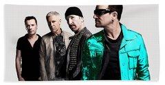 U2 Hand Towel by Marvin Blaine