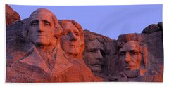 Usa, South Dakota, Mount Rushmore Hand Towel by Panoramic Images