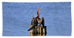 Wet Wings Hand Towel by Al Powell Photography USA