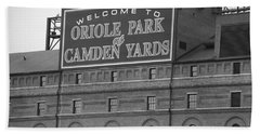 Baltimore Orioles Park At Camden Yards Hand Towel by Frank Romeo