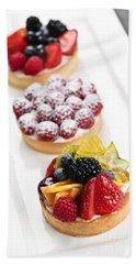 Fruit Tarts Hand Towel by Elena Elisseeva