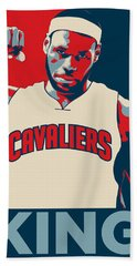 Lebron James Hand Towel by Taylan Apukovska