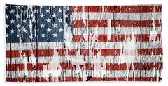 American Flag Hand Towel by Les Cunliffe