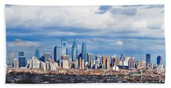Buildings In A City, Comcast Center Hand Towel by Panoramic Images