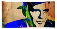 Frank Sinatra Painting Hand Towel by Marvin Blaine