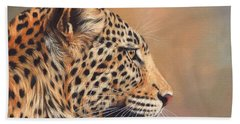 Leopard Hand Towel by David Stribbling