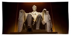 Lincoln Memorial At Night - Washington D.c. Hand Towel by Gary Whitton