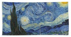 The Starry Night Hand Towel by Vincent Van Gogh