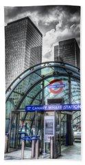 Canary Wharf Hand Towel by David Pyatt