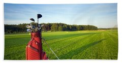 Golf Gear Hand Towel by Michal Bednarek