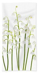 Lily-of-the-valley Flowers  Hand Towel by Elena Elisseeva