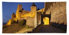 Medieval Carcassonne Hand Towel by Brian Jannsen