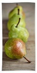 Pears Hand Towel by Nailia Schwarz
