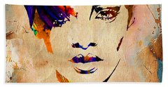 Rihanna Collection Hand Towel by Marvin Blaine
