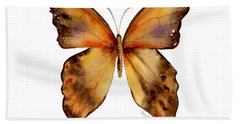 7 Yellow Gorgon Butterfly Hand Towel by Amy Kirkpatrick
