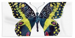 73 Citrus Butterfly Hand Towel by Amy Kirkpatrick