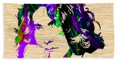 Robert Plant Collection Hand Towel by Marvin Blaine