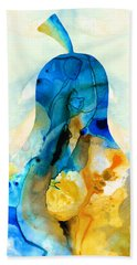 A Nice Pear - Abstract Art By Sharon Cummings Hand Towel by Sharon Cummings