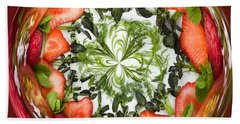 A Round Of Fresh Fruit Salad Hand Towel by Anne Gilbert