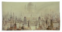 A Tribute To Sir Christopher Wren Hand Towel by Charles Robert Cockerell