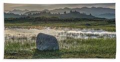 Bath Towel featuring the photograph A Yellowstone Sunrise And Hazy Morning Ridges by Bill Gabbert