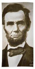 Abraham Lincoln Hand Towel by Alexander Gardner