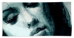 Adele In Watercolor Hand Towel by Laur Iduc