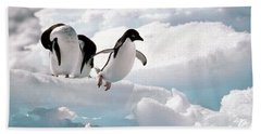 Adelie Penguins Hand Towel by Art Wolfe