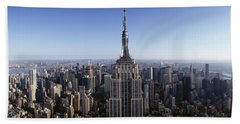 Aerial View Of A Cityscape, Empire Hand Towel by Panoramic Images