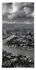 Aerial View Of London 4 Hand Towel by Mark Rogan