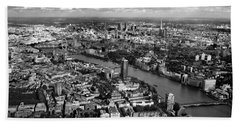 Aerial View Of London Hand Towel by Mark Rogan