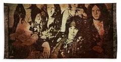 Aerosmith - Back In The Saddle Hand Towel by Absinthe Art By Michelle LeAnn Scott