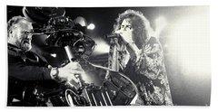Aerosmith-steven-25 Hand Towel by Timothy Bischoff
