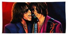 Aerosmith Toxic Twins Painting Hand Towel by Paul Meijering
