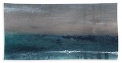 After The Storm- Abstract Beach Landscape Hand Towel by Linda Woods